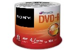 5 psc Sony 50 DVD-R spindle 16x + 5 psc Sony DVD-RW 4.7GB Slim case